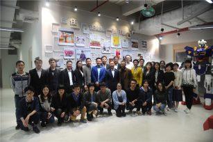 省团委书记池志雄一行参观三三智能的智能机器人装配生产线